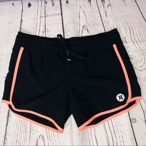 Hurley Phantom Board Shorts Black Orange Trim S
